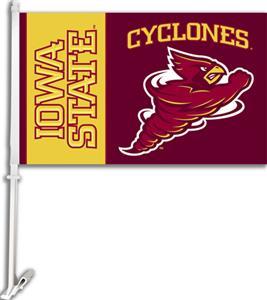 "COLLEGIATE Iowa State 2-Sided 11"" x 18"" Car Flag"