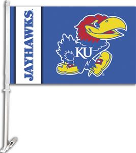 "COLLEGIATE Kansas 2-Sided 11"" x 18"" Car Flag"