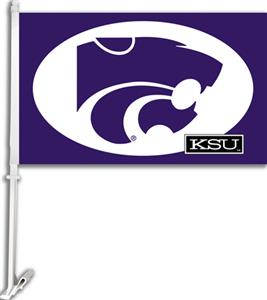 "COLLEGIATE Kansas State 2-Sided 11"" x 18"" Car Flag"