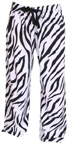 Girls Fashion Animal Print Flannel Pants