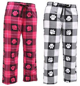 Boxercraft Girls Fashion Paw Print Flannel Pants