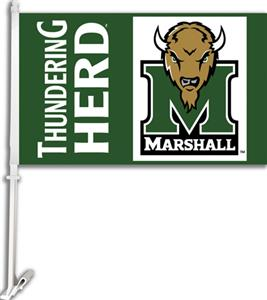 "COLLEGIATE Marshall 2-Sided 11"" x 18"" Car Flag"