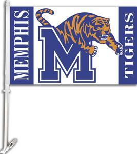 "COLLEGIATE Memphis 2-Sided 11"" x 18"" Car Flag"
