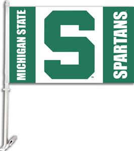 "COLLEGIATE Michigan St. 2-Sided 11"" x 18"" Car Flag"