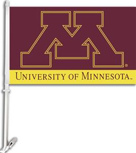 "COLLEGIATE Minnesota 2-Sided 11"" x 18"" Car Flag"