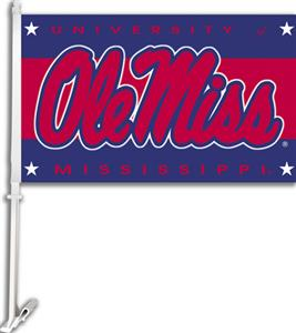 "COLLEGIATE Mississippi 2-Sided 11"" x 18"" Car Flag"
