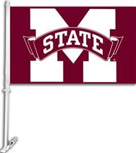 "COLLEGIATE Mississippi State 11"" x 18"" Car Flag"