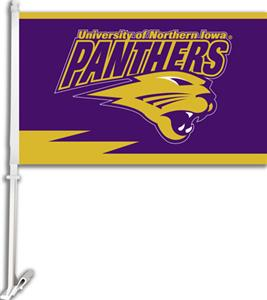COLLEGIATE Northern Iowa 11&quot; x 18&quot; Car Flag