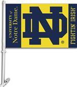 "COLLEGIATE Notre Dame 2-Sided 11"" x 18"" Car Flag"