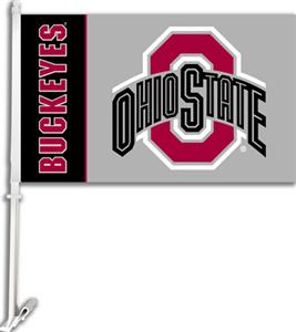 "COLLEGIATE Ohio State 2-Sided 11"" x 18"" Car Flag"