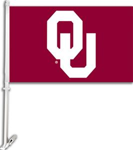 COLLEGIATE Oklahoma 2-Sided 11&quot; x 18&quot; Car Flag