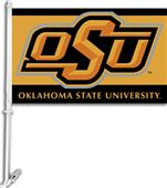 "COLLEGIATE Oklahoma St. 2-Sided 11"" x 18"" Car Flag"