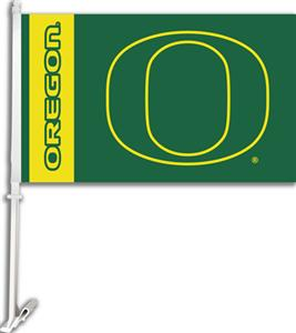 "COLLEGIATE Oregon 2-Sided 11"" x 18"" Car Flag"