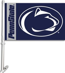 "COLLEGIATE Penn State 2-Sided 11"" x 18"" Car Flag"