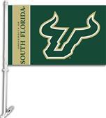 "COLLEGIATE South Florida 11"" x 18"" Car Flag"