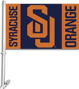 "COLLEGIATE Syracuse 2-Sided 11"" x 18"" Car Flag"