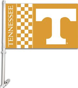 "COLLEGIATE Tennessee 2-Sided 11"" x 18"" Car Flag"