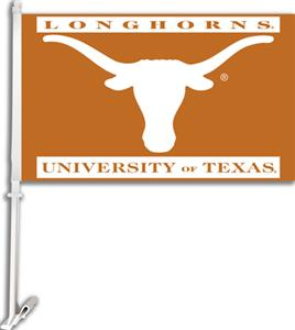 "COLLEGIATE Texas 2-Sided 11"" x 18"" Car Flag"