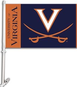 "COLLEGIATE Virginia 2-Sided 11"" x 18"" Car Flag"