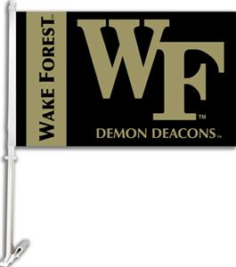 "COLLEGIATE Wake Forest 2-Sided 11"" x 18"" Car Flag"