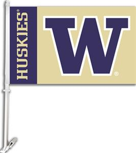 "COLLEGIATE Washington 2-Sided 11"" x 18"" Car Flag"