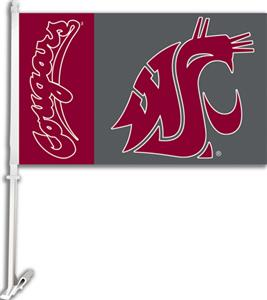 COLLEGIATE Washington State 11&quot; x 18&quot; Car Flag