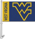 "COLLEGIATE West Virginia 11"" x 18"" Car Flag"