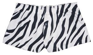 Boxercraft Girl's Zebra Flannel Bitty Boxer Shorts