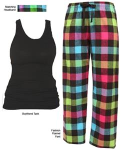 Boxercraft Womens Cozy Kit Tank &amp; Pant Sets