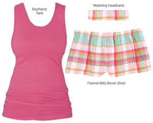 Boxercraft Womens Bitty Bundle Tank &amp; Short Sets