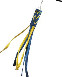 COLLEGIATE West Virginia Windsock w/Streamers