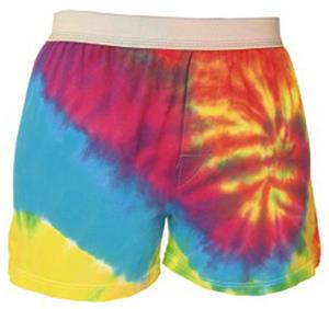 Girls Rainbow Swirl Tie Dye Boxer Shorts