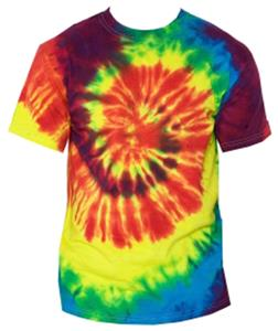 Adult Rainbow Swirl Tie Dye Classic T-Shirts