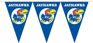 COLLEGIATE Kansas Party Pennant Flags