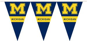 COLLEGIATE Michigan Party Pennant Flags