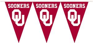 COLLEGIATE Oklahoma Party Pennant Flags