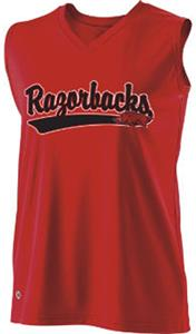 Holloway Ladies Curve Collegiate Arkansas Jersey