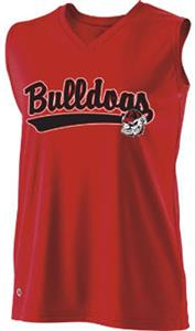 Holloway Ladies Curve Collegiate Georgia Jersey