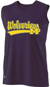 Holloway Ladies Curve Collegiate Michigan Jersey