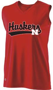 Holloway Ladies Curve Collegiate Nebraska Jersey