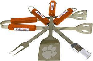 COLLEGIATE Clemson 4 Piece BBQ Set