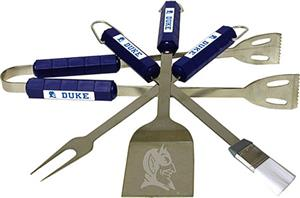 COLLEGIATE Duke 4 Piece BBQ Set