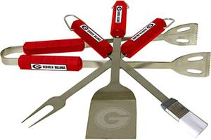 COLLEGIATE Georgia 4 Piece BBQ Set
