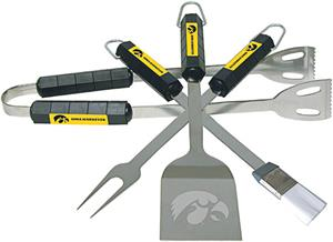 COLLEGIATE Iowa 4 Piece BBQ Set
