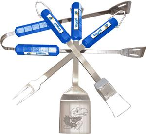 COLLEGIATE Kansas 4 Piece BBQ Set