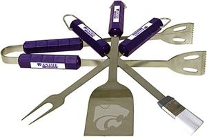 COLLEGIATE Kansas State 4 Piece BBQ Set