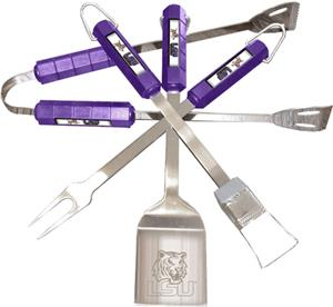 COLLEGIATE LSU 4 Piece BBQ Set