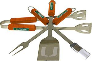 COLLEGIATE Miami 4 Piece BBQ Set