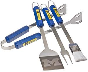 BSI NCAA Michigan Wolverines 4 Piece BBQ Set