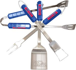 COLLEGIATE Mississippi 4 Piece BBQ Set